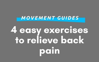 Relieve your lower back pain with these simple exercises
